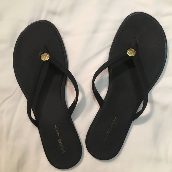 a5f5741743d BCBG Shoes - BCBG Black Flip Flops